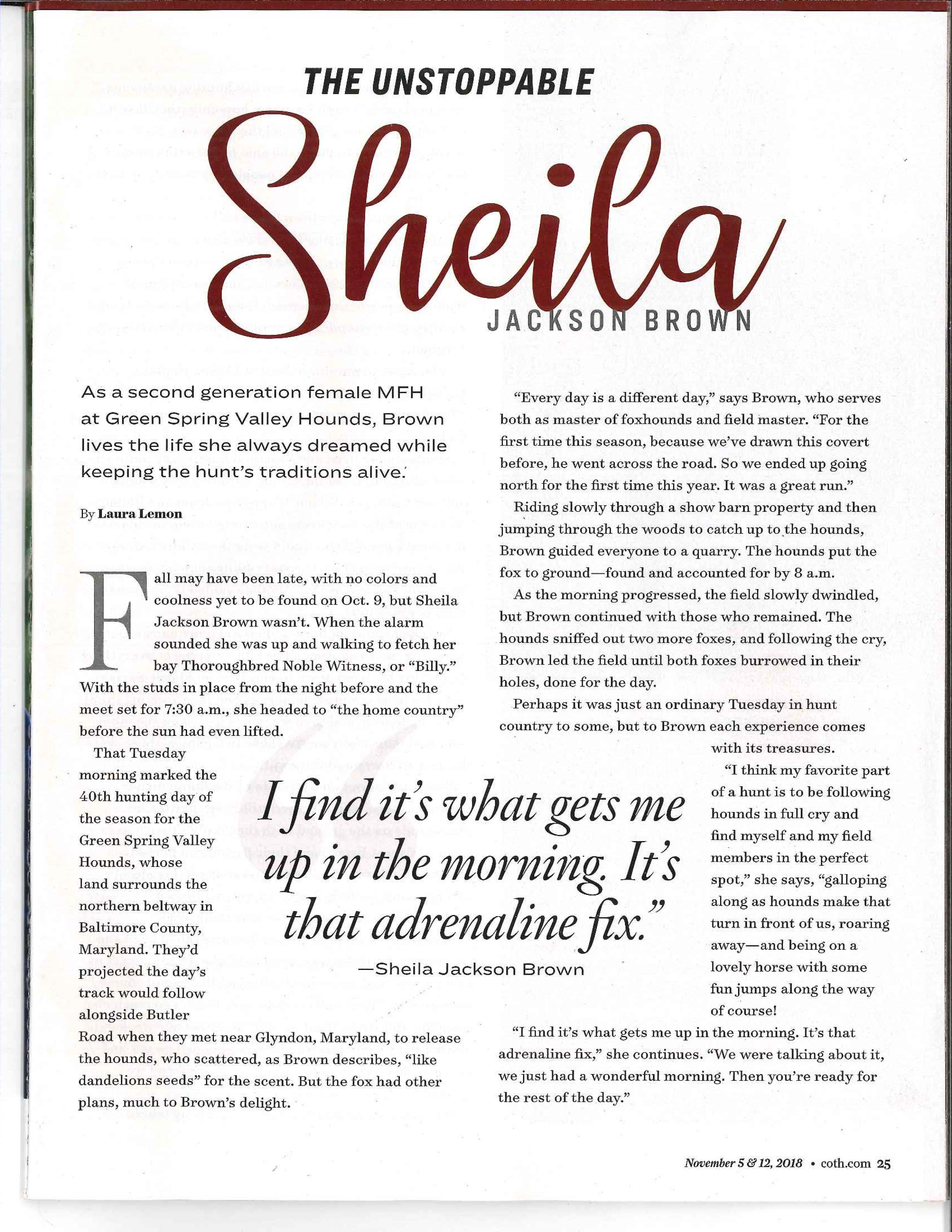 Shaeila Brown Chronicle Article 3